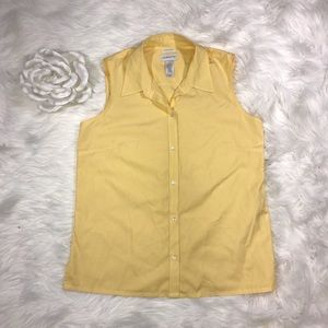 Liz Claiborne Sleeveless Button Up Sz 10